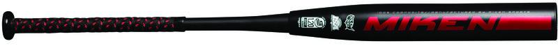 A black Josh Riley Freak USSSA bat with a Worth logo on the barrel - SKU: MJR21U