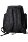 Back of a black Miken XL backpack with black shoulder straps - SKU: MKMK7X-XL-BLK image number null