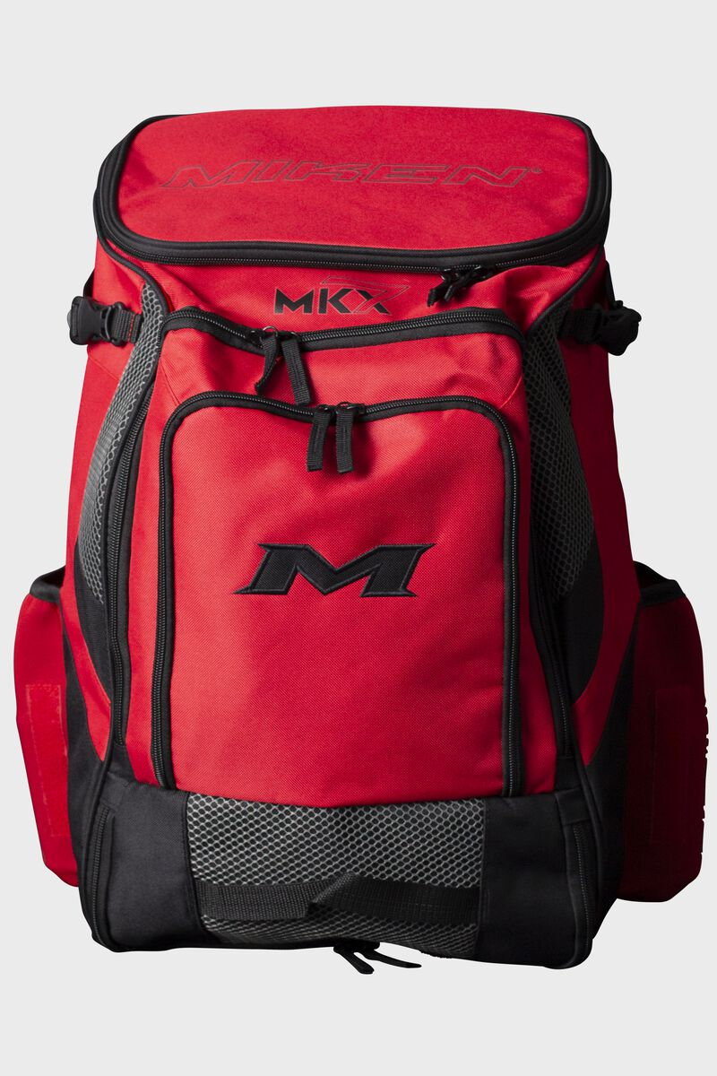 A red Miken Softball backpack - MKMK7X-BP-RED