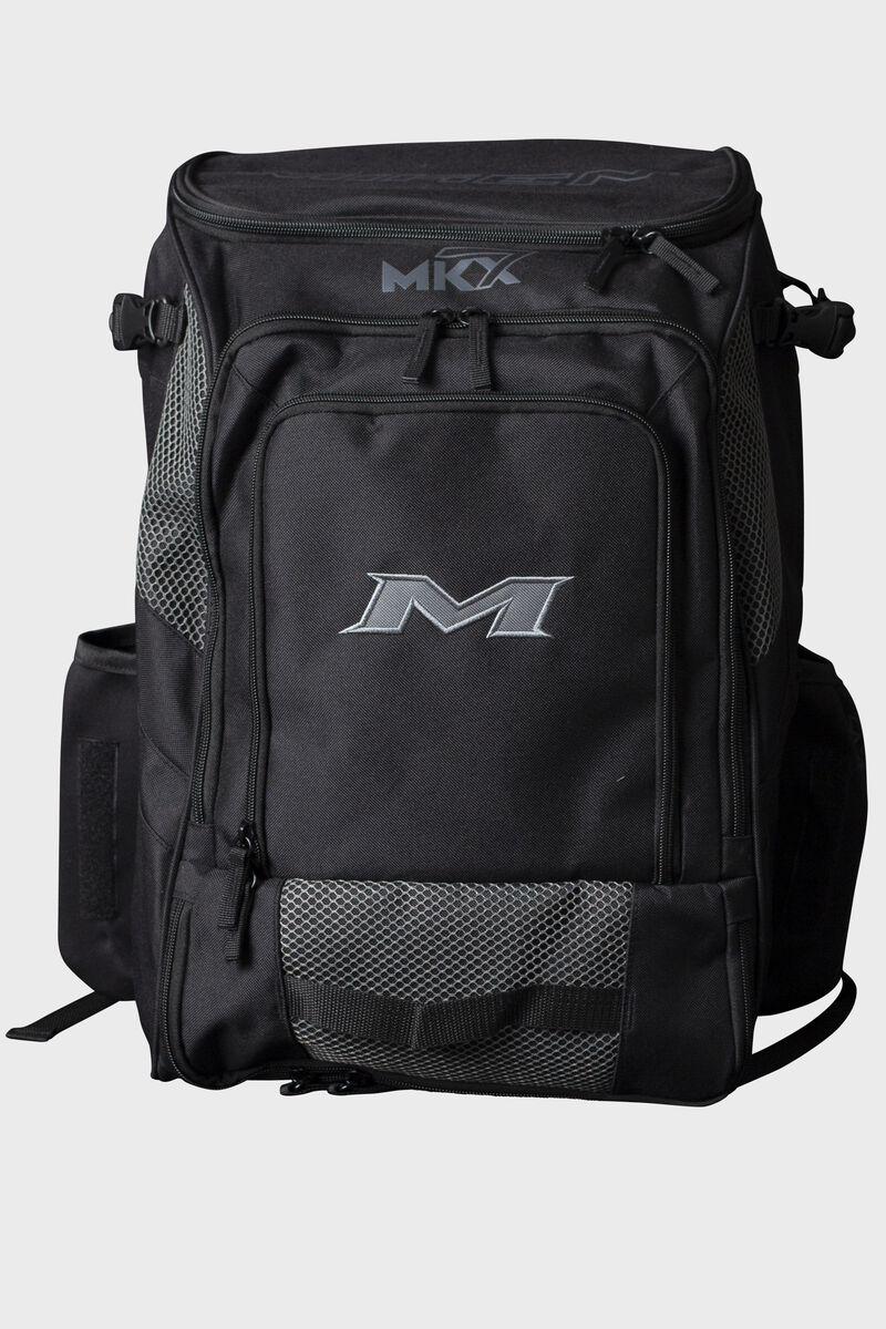 A black Miken Softball backpack - MKMK7X-BP-BLK