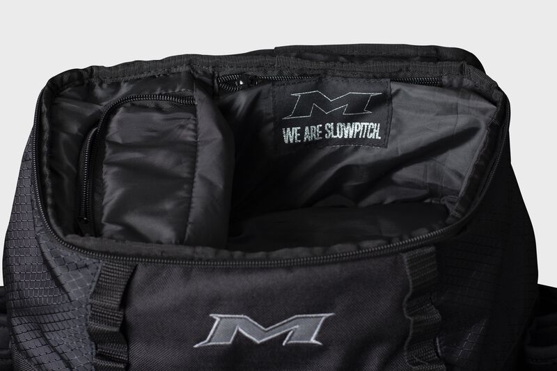 Top valet pocket of a black Miken XL backpack - SKU: MKMK7X-XL-BLK